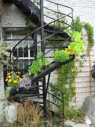 Inside Urban Green A Montreal Spiral Stairway Planter