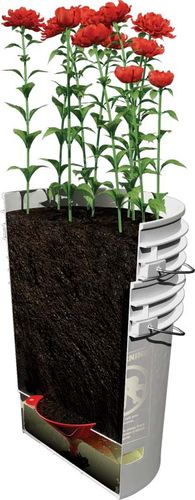 Inside Urban Green Self Watering Bucket Planter Caution
