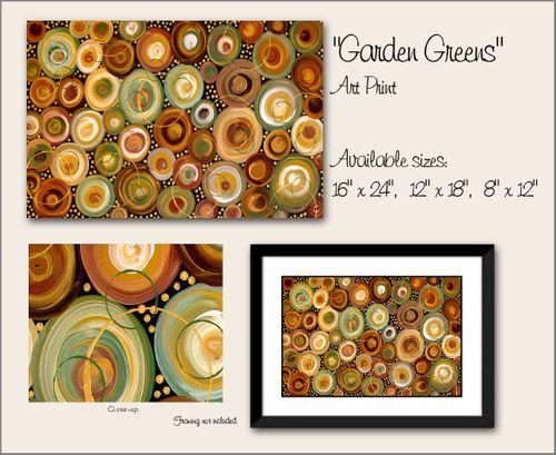 Garden Greens Abstract