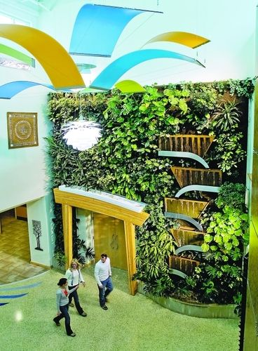 Inside Urban Green Biowall Vertical Gardens