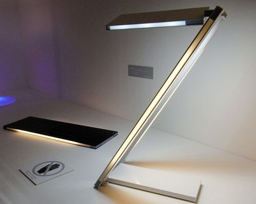 Here is yet another cool looking LED desk l& from Toshiba Lighting Systems. It looks like it could easily help you keep a living plant on your desk while ... & Inside Urban Green: Card LED Desk Lamp From Toshiba Lighting Systems