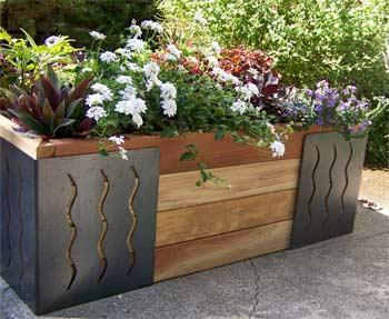 Inside urban green m brace raised bed planter - Raised garden bed corner brackets ...