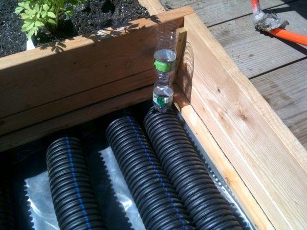 Inside Urban Green Corrugated Drain Pipe Sub Irrigated