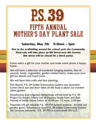 PS 39 Auction Plant Sale 2011