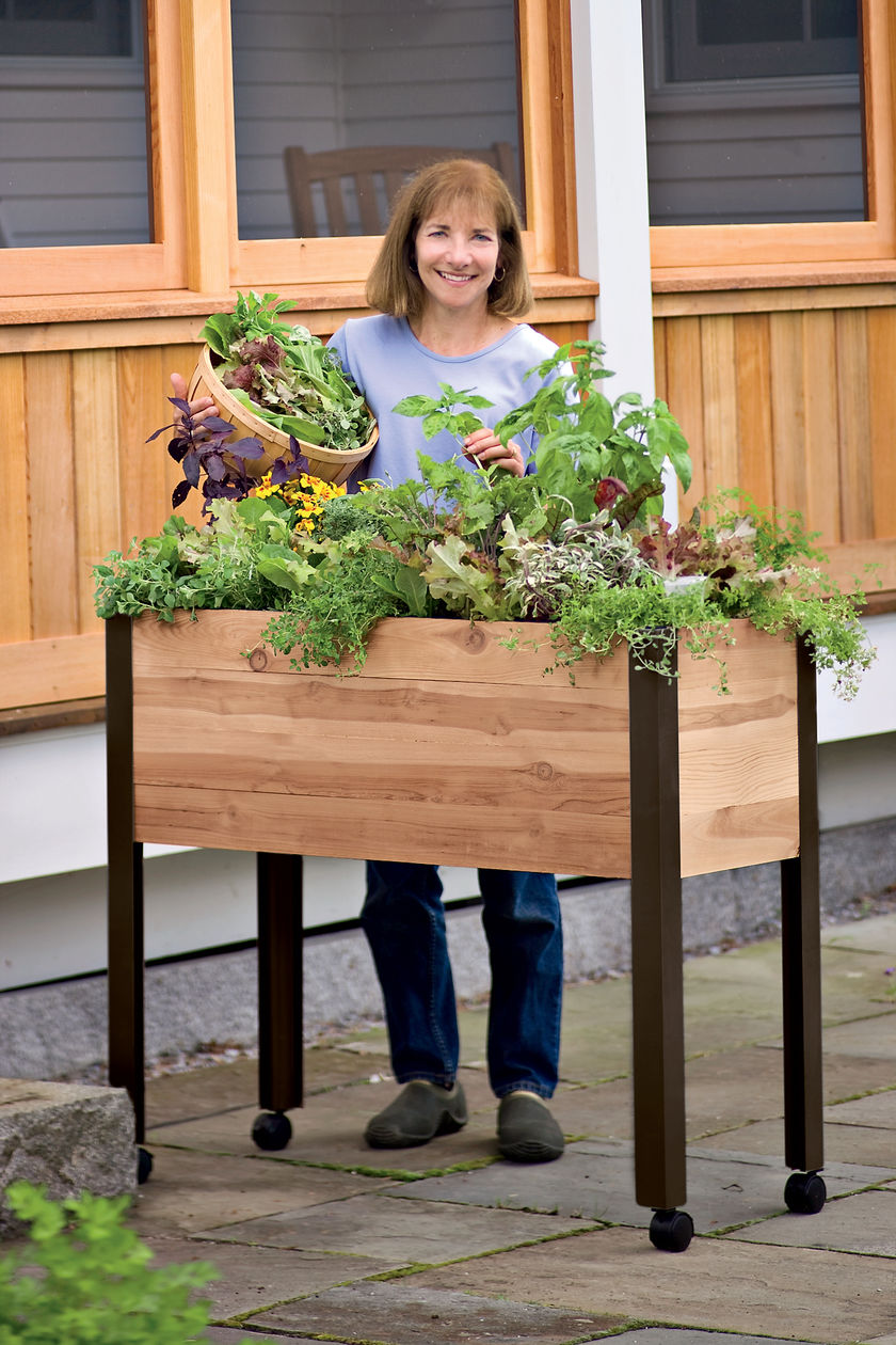 Urban gardening planters - A Rolling Sub Irrigated Planter From Gardener S Supply